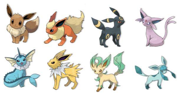 Character Design Brief : Eevee evolutions family brief character design