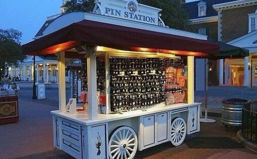 Mobile Food Cart, Outdoor Retail Kiosk for Food, Coffee ...
