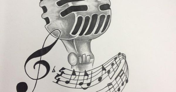 Vintage microphone drawing