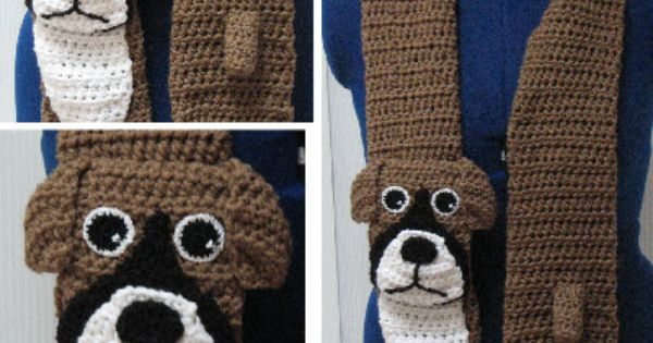 Knitting Patterns For Boxer Dogs : Boxer Scarf Crochet Pattern Dog Scarves Pinterest Patterns, Crochet and...