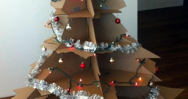 Rbol de navidad de cart n adornos navide os pinterest - Adornos de navidad en carton ...