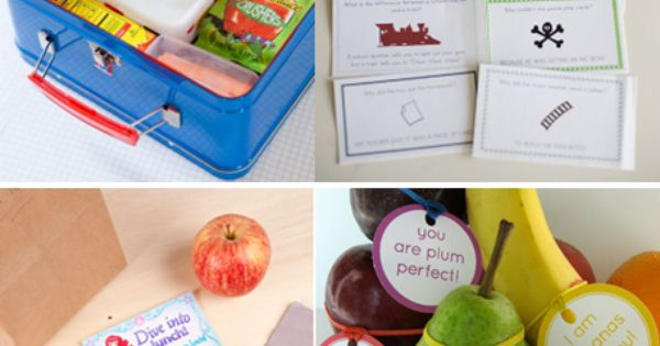 Printable lunch box notes :)