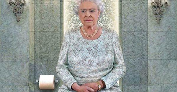 il dovere quotidiano les dirigeants du monde assis sur les toilettes image photomontage