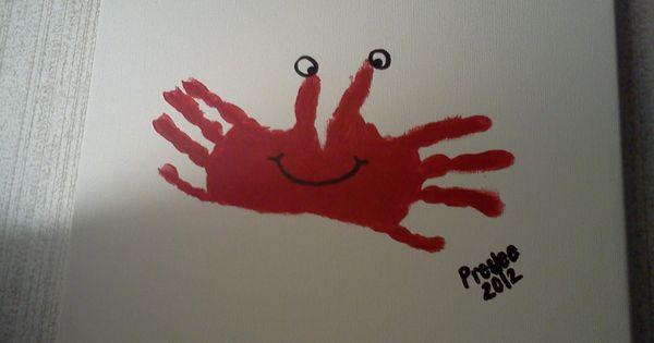 Crab hands art craft for Pre-k summer theme | Ocean | Pinterest