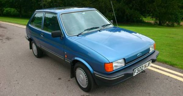 Ford Fiesta Ghia 1 1 Blue 12 000 Miles For Sale 1988 Ford Fiesta Car First Car