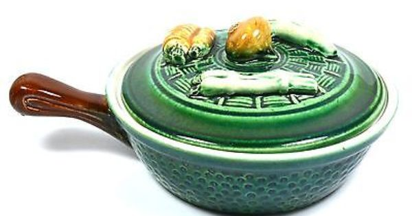 Vintage Majolica Pottery Tellurite Belgium 1930 S Small