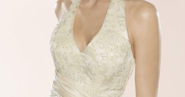 Robe de mariée blanche en soie mixte de chez couture Nuptiale Paris ...