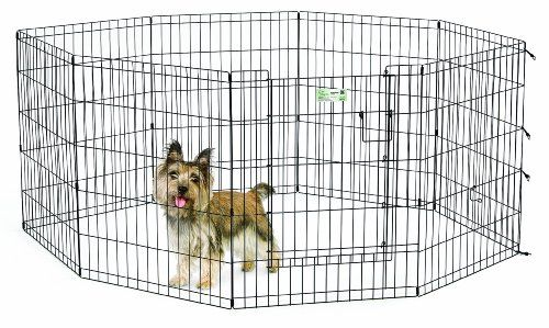 Midwest Homes For Pets Exercise Pen For Pets With Full Max Lock Door 30 Inch Black Puppy Playpen Large Dog Crate Pets For Sale