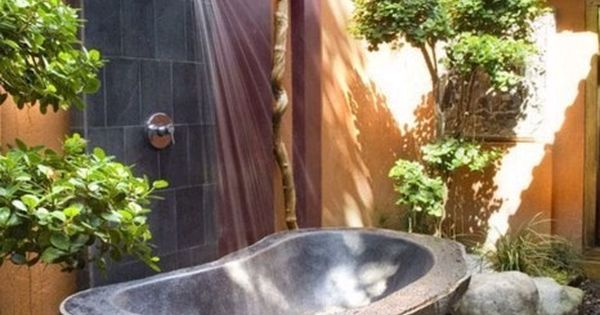 Outdoor shower outdoor outdoorbath water architectual eugeniesims34 relax