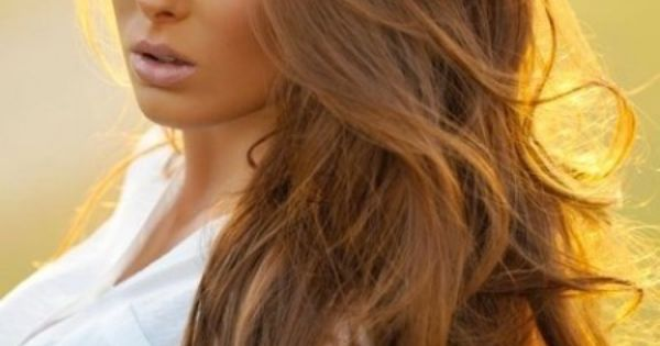Light golden brown/honey hair color - love this color! honey brown long
