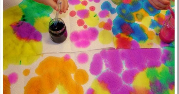 Abstract Art Effect Created By Pipettes Colorful Art Projects