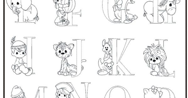 kids coloring page precious moments alphabet part 1 ...