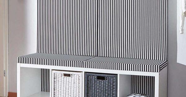 schneller ikea hack so wird ein kallax regal zur flur bank ikea hacks pinterest flur bank. Black Bedroom Furniture Sets. Home Design Ideas