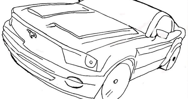 ford gt 2004 mustang coloring page