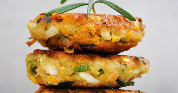 Lentil Patties with Olives and Herbs vegetarian recipe