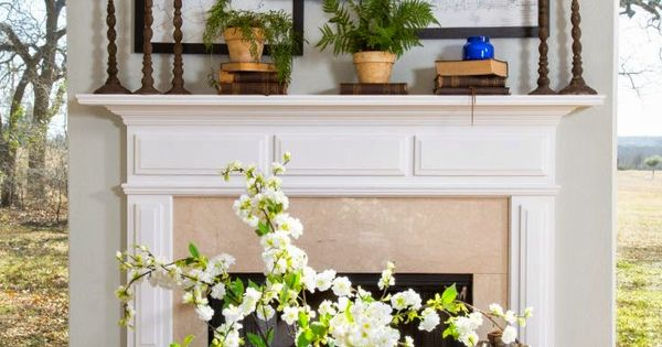 Joanna Gaines Designer Fireplace Mantel Decor