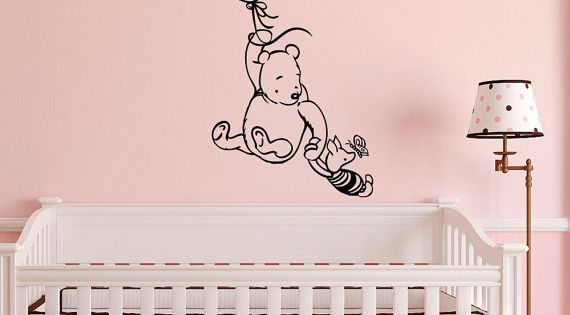 Winnie the pooh wall decal sticker classic winnie by for Classic pooh wall mural