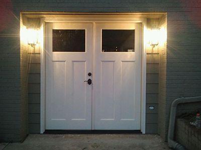 Double Door Garage Conversion Garage Door Design Garage Doors Garage Conversion