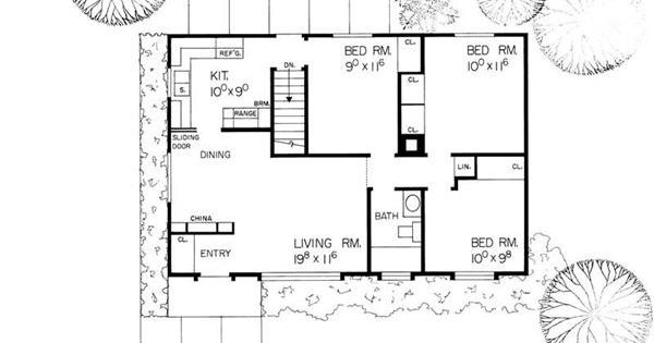 This is a cute ranch style house plan with an unfinished for House plans with full basement