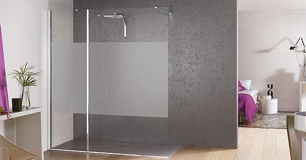 Paroi de douche en verre design avec diff rents motifs for Paroi de douche kinedo
