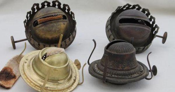 Old Oil Kerosene Lamp Parts Burner Lamp Wick Assemblies Vintage Oil Lamp Burners Oil Lamps Lamp Parts Kerosene Lamp