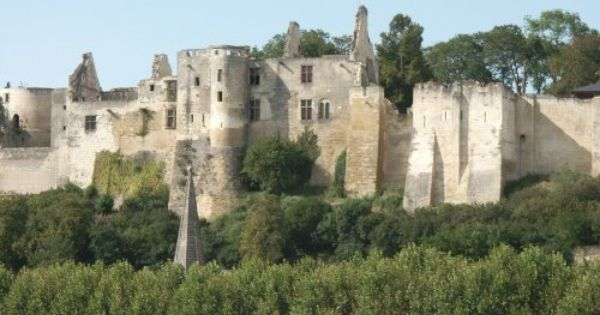 Ruins Of Chateau De Chinon Loire Valley France French Castles