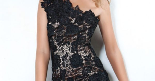 Jovani 5225 - Short, black, cocktail dress for clubbing and parties, or