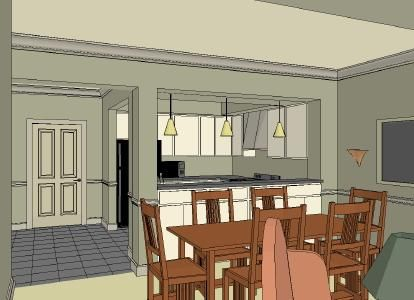 Potential Kitchen Layout Next To Front Door Home Remodeling Kitchen Renovation Front Entry Doors
