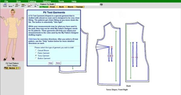 Free Download Of My Pattern Designer Pattern Software You Can Print Bodice Pants Torso An Pattern Making Software Sewing Alterations Womens Sewing Patterns