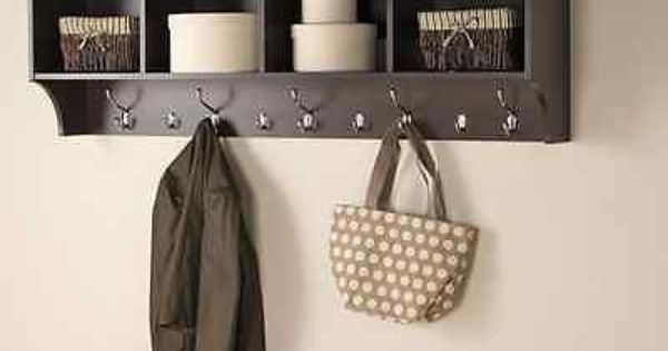 Mudroom cubby coat rack foyer hanging storage entryway shelf ...