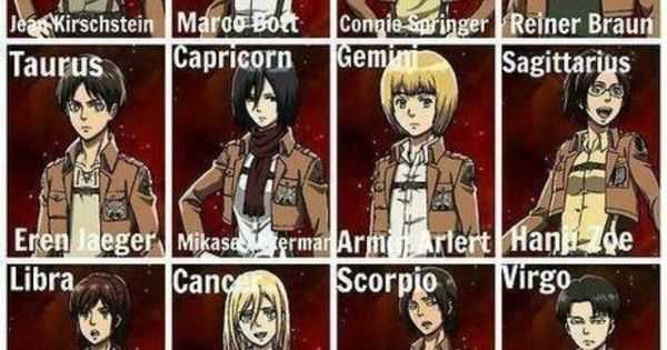 Anime Characters Born On December 7 : Attack on titan horoscopes i m sasha yay she s my fav