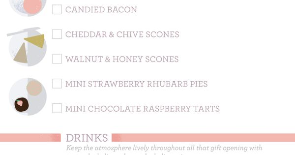 bridal shower checklist - RedEnvelope Blog