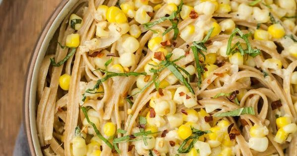 Corn pasta, Sweet corn and Goat cheese on Pinterest
