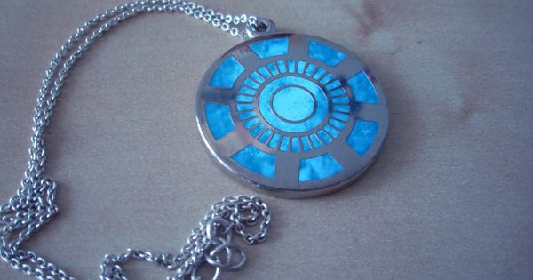 Iron Man Arc reactor necklace.. This is so cool!