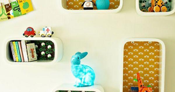 Clever kids wall deco as seen in http://www.babiekinsmag.com  girls room  Pinterest