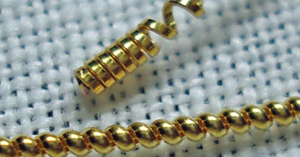 Jaceron Bullion for Metal Thread Embroidery Pearl Purl
