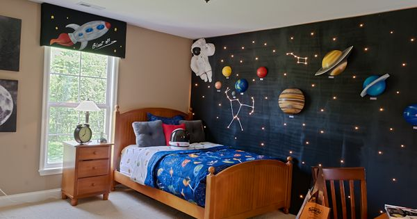 A space-themed boy's bedroom will look great in your new home!  Fischer Homes  Kids ...