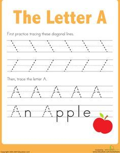 Practice Tracing The Letter A With Images Preschool Worksheets