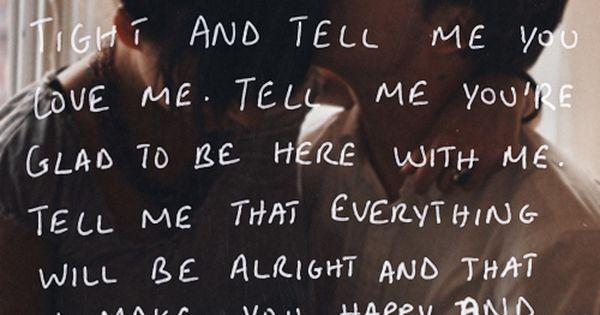 Hug me really hard and tell me you love me romance couples