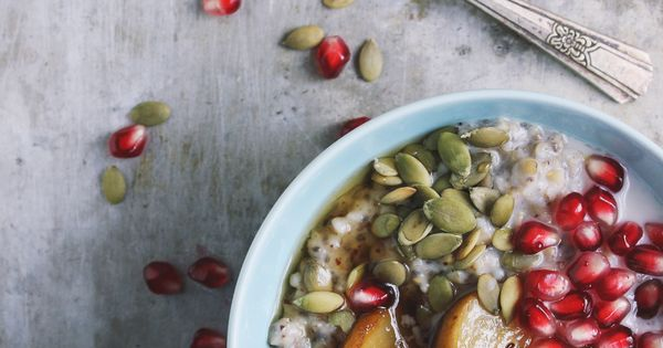 Steel cut oats, Pears and Pomegranates on Pinterest