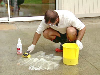 Homemade Concrete Cleaner Degreaser Cleaning Concrete Patios