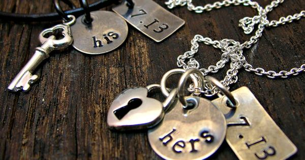 Personalized Couples Set Matching Necklaces His And