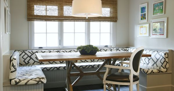 banquette dining nook