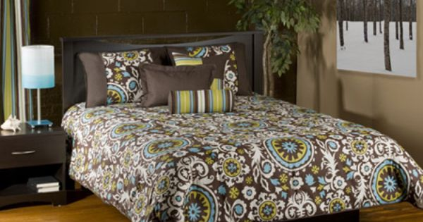 Cosmo Turquoise & Brown Bedding forter or Duvet Set