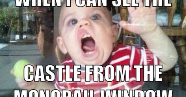 Funny Disney World Meme : Quot when i see the castle from monorail window disney