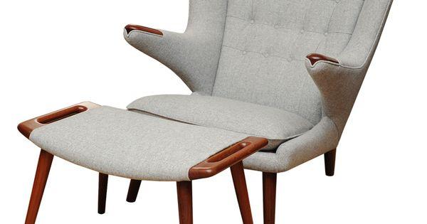 Hans Wegner Papa Bear Chair and Ottotman Chair Hans_Wegner