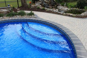 Gray Brick Coping Pool Landscape Design Swimming Landscaping Remodel