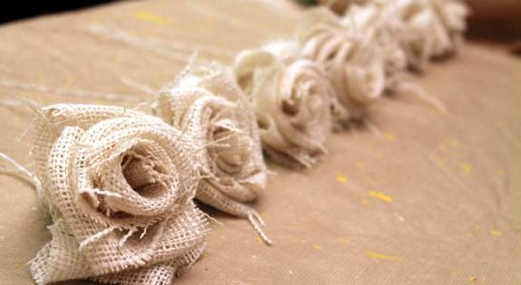 Great tutorial on how to make burlap flowers! lots of pictures and