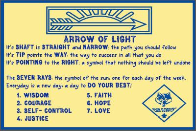 Arrow Of Light Poster That Explains It S Meaning Cub