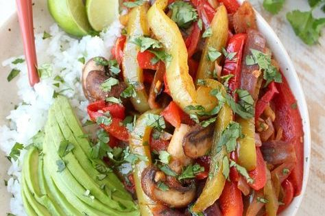Veggie Fajita Rice Bowl | Recipe